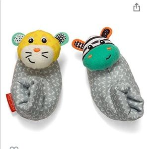 *NWT* Baby Sock Foot Rattle Infantino